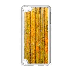 Background Wood Lath Board Fence Apple Ipod Touch 5 Case (white)