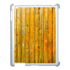 Background Wood Lath Board Fence Apple Ipad 3/4 Case (white)