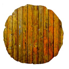 Background Wood Lath Board Fence Large 18  Premium Round Cushions