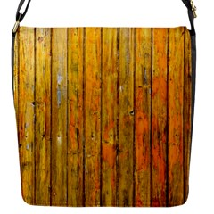Background Wood Lath Board Fence Flap Messenger Bag (s)