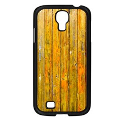 Background Wood Lath Board Fence Samsung Galaxy S4 I9500/ I9505 Case (black)