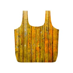Background Wood Lath Board Fence Full Print Recycle Bags (s)