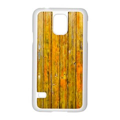 Background Wood Lath Board Fence Samsung Galaxy S5 Case (white)