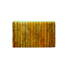 Background Wood Lath Board Fence Cosmetic Bag (xs)