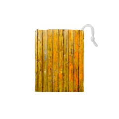 Background Wood Lath Board Fence Drawstring Pouches (xs)