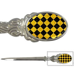 Square2 Black Marble & Yellow Marble Letter Opener