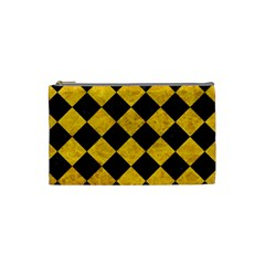 Square2 Black Marble & Yellow Marble Cosmetic Bag (small)