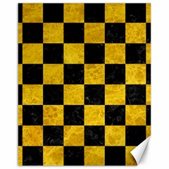 Square1 Black Marble & Yellow Marble Canvas 16  X 20