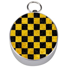 Square1 Black Marble & Yellow Marble Silver Compass