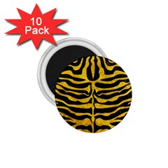Skin2 Black Marble & Yellow Marble 1 75  Magnet (10 Pack)