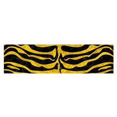 Skin2 Black Marble & Yellow Marble Satin Scarf (oblong)