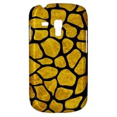 Skin1 Black Marble & Yellow Marble Samsung Galaxy S3 Mini I8190 Hardshell Case