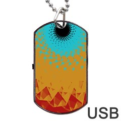 Bluesunfractal Dog Tag Usb Flash (one Side)