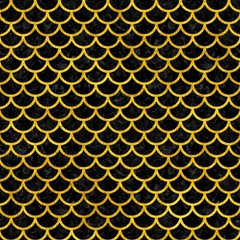 Scales1 Black Marble & Yellow Marble Magic Photo Cube