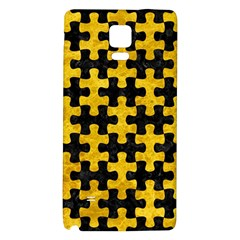 Puzzle1 Black Marble & Yellow Marble Samsung Note 4 Hardshell Back Case