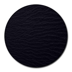 Black Pattern Sand Surface Texture Round Mousepads