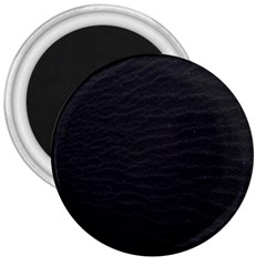Black Pattern Sand Surface Texture 3  Magnets