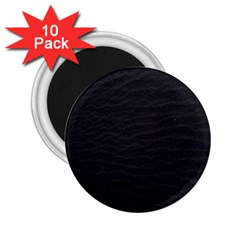 Black Pattern Sand Surface Texture 2 25  Magnets (10 Pack)