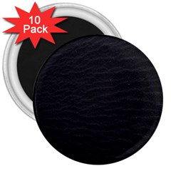 Black Pattern Sand Surface Texture 3  Magnets (10 Pack)
