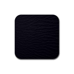 Black Pattern Sand Surface Texture Rubber Square Coaster (4 Pack)