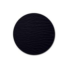 Black Pattern Sand Surface Texture Rubber Round Coaster (4 Pack)