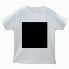 Black Pattern Sand Surface Texture Kids White T-Shirts