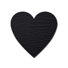 Black Pattern Sand Surface Texture Heart Magnet
