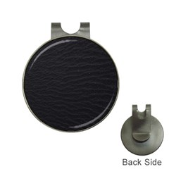 Black Pattern Sand Surface Texture Hat Clips With Golf Markers