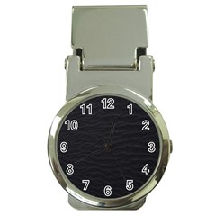 Black Pattern Sand Surface Texture Money Clip Watches