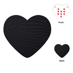 Black Pattern Sand Surface Texture Playing Cards (heart)