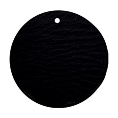 Black Pattern Sand Surface Texture Round Ornament (two Sides)
