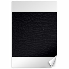 Black Pattern Sand Surface Texture Canvas 20  X 30