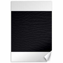 Black Pattern Sand Surface Texture Canvas 24  X 36