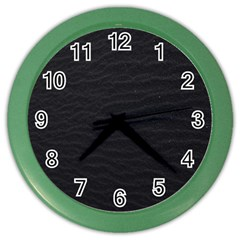 Black Pattern Sand Surface Texture Color Wall Clocks