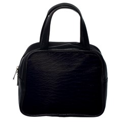 Black Pattern Sand Surface Texture Classic Handbags (one Side)