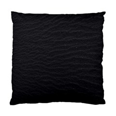 Black Pattern Sand Surface Texture Standard Cushion Case (one Side)