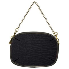 Black Pattern Sand Surface Texture Chain Purses (two Sides)