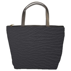 Black Pattern Sand Surface Texture Bucket Bags