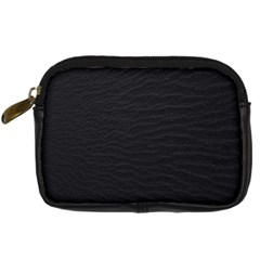 Black Pattern Sand Surface Texture Digital Camera Cases