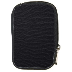 Black Pattern Sand Surface Texture Compact Camera Cases