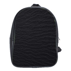 Black Pattern Sand Surface Texture School Bags(large)