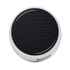 Black Pattern Sand Surface Texture 4 Port Usb Hub (two Sides)