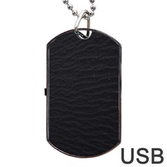Black Pattern Sand Surface Texture Dog Tag Usb Flash (one Side)