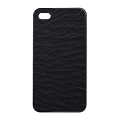 Black Pattern Sand Surface Texture Apple iPhone 4/4s Seamless Case (Black)