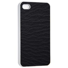 Black Pattern Sand Surface Texture Apple iPhone 4/4s Seamless Case (White)