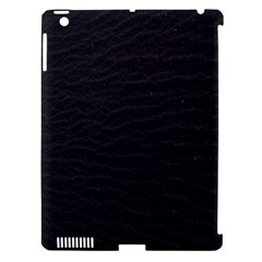 Black Pattern Sand Surface Texture Apple Ipad 3/4 Hardshell Case (compatible With Smart Cover)