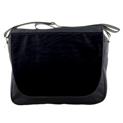 Black Pattern Sand Surface Texture Messenger Bags