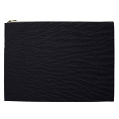 Black Pattern Sand Surface Texture Cosmetic Bag (xxl)