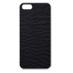Black Pattern Sand Surface Texture Apple Seamless Iphone 5 Case (clear)
