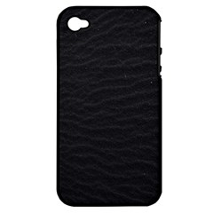 Black Pattern Sand Surface Texture Apple Iphone 4/4s Hardshell Case (pc+silicone)